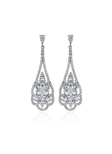 Tophills Diamond Co. 3,80 Ct Pırlanta Efekt  Altın Martha Vitta Küpe Renkli